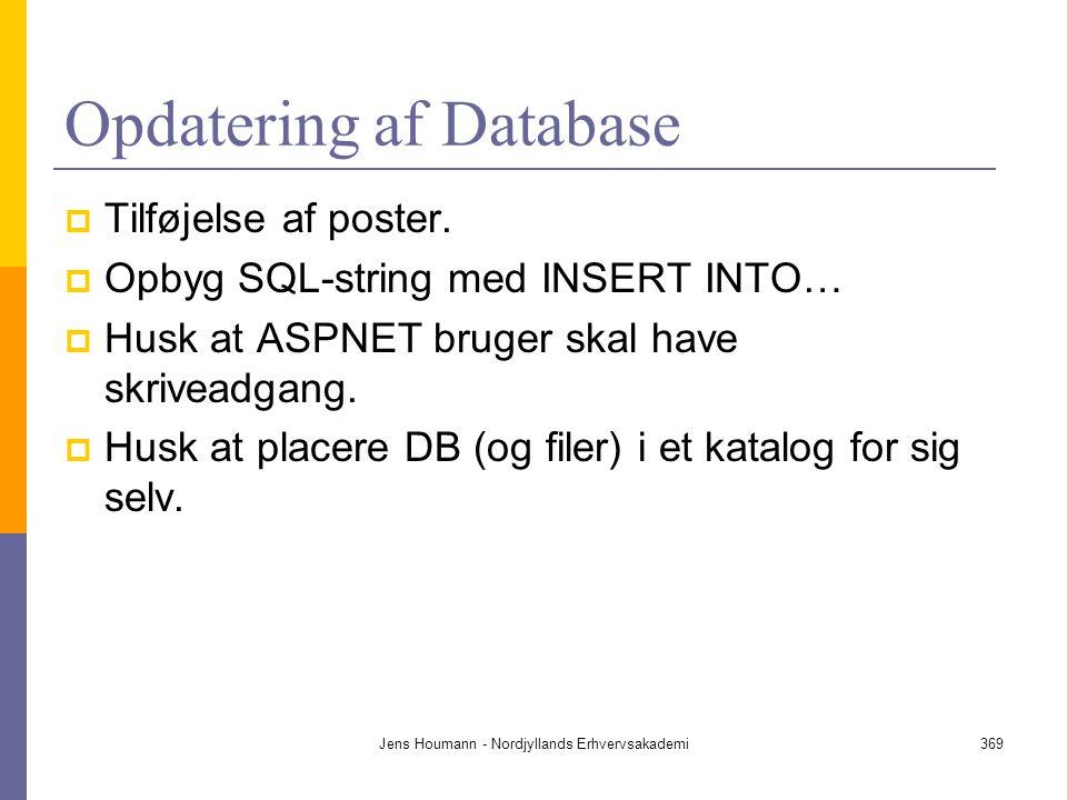 Opdatering af Database