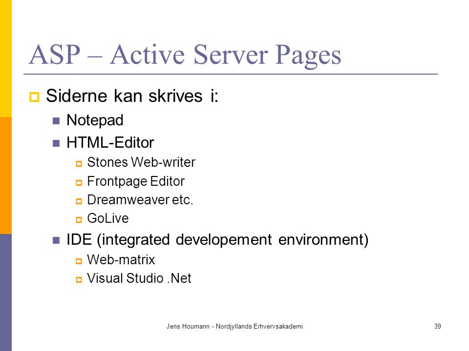 ASP – Active Server Pages