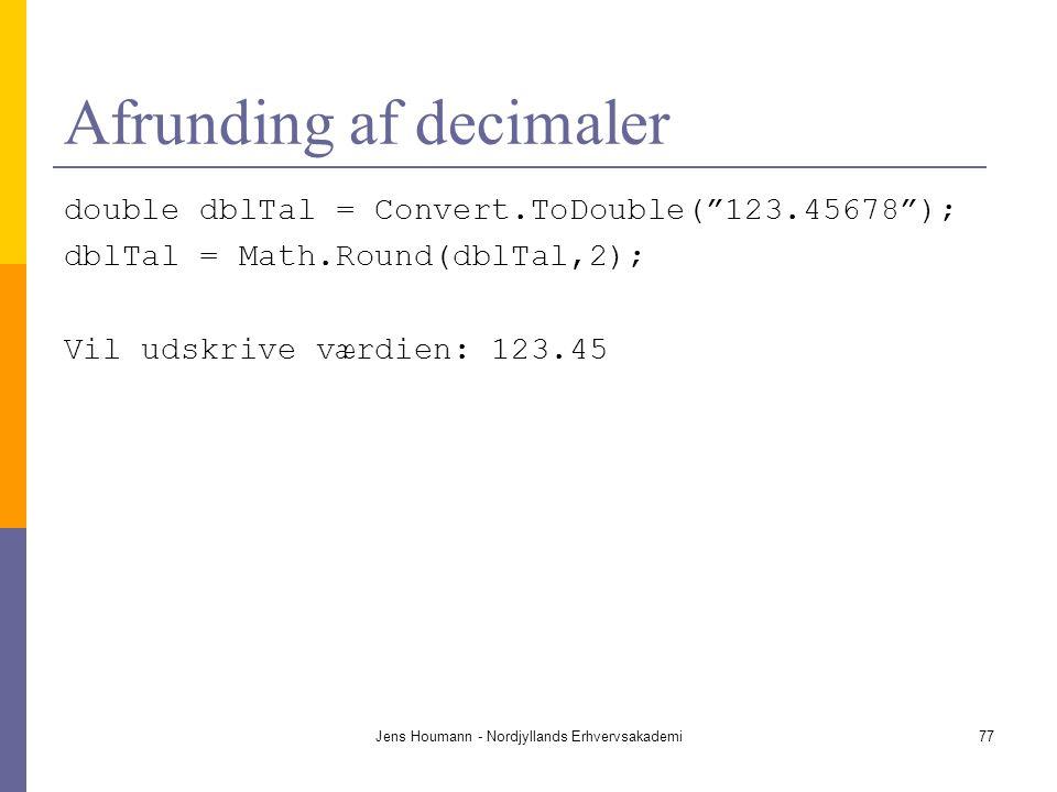 Afrunding af decimaler