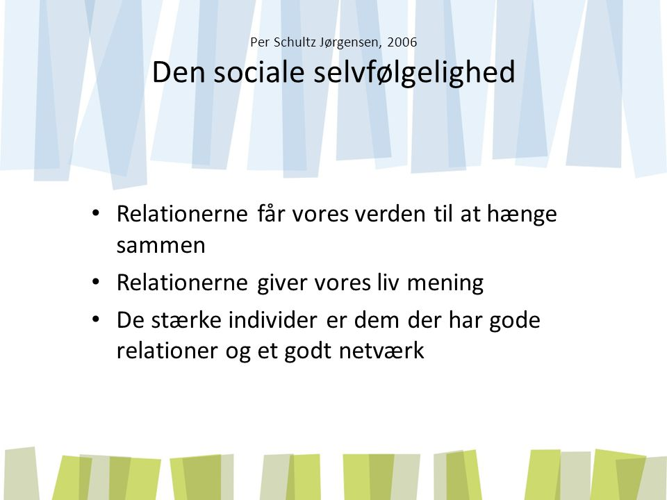 Per Schultz Jørgensen, 2006 Den sociale selvfølgelighed