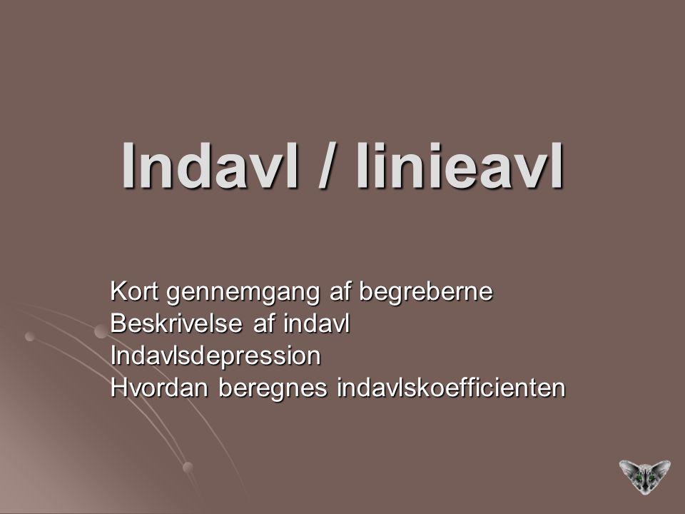 Indavl / linieavl Kort gennemgang af begreberne Beskrivelse af indavl