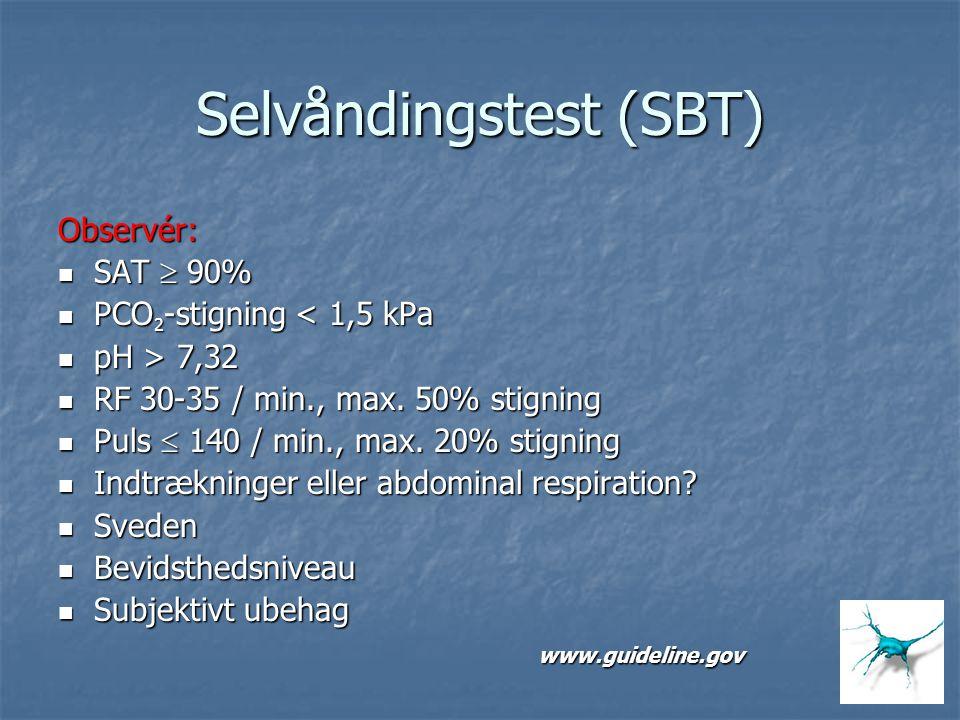 Selvåndingstest (SBT)