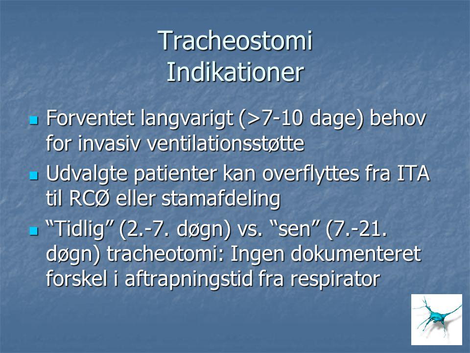 Tracheostomi Indikationer
