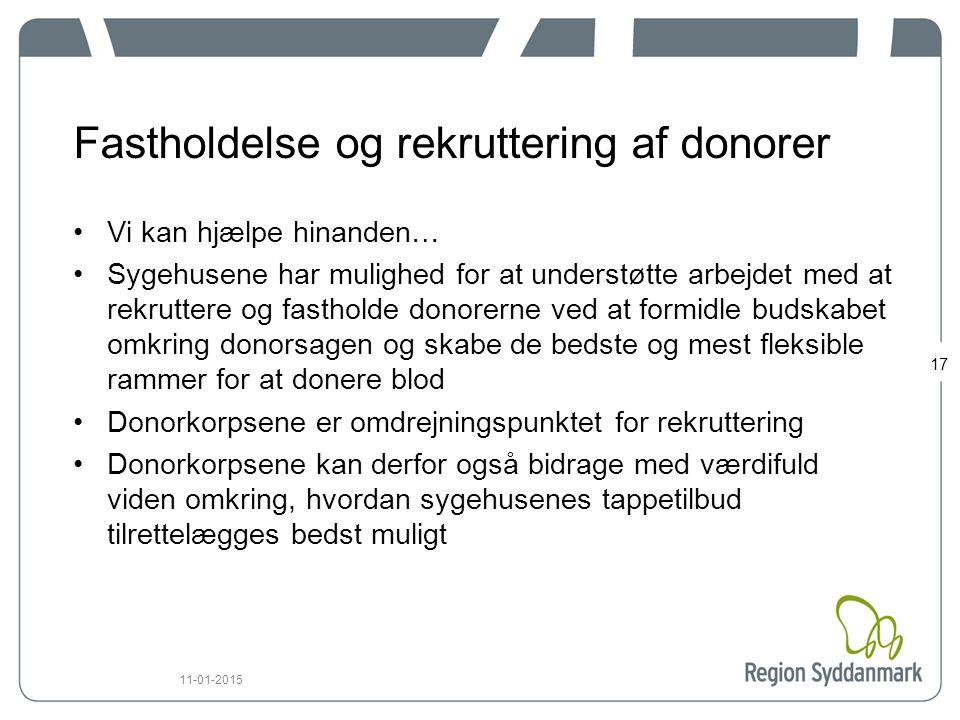 Fastholdelse og rekruttering af donorer