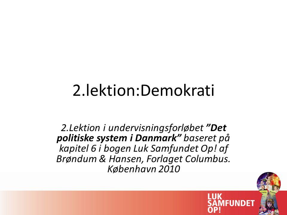 2.lektion:Demokrati