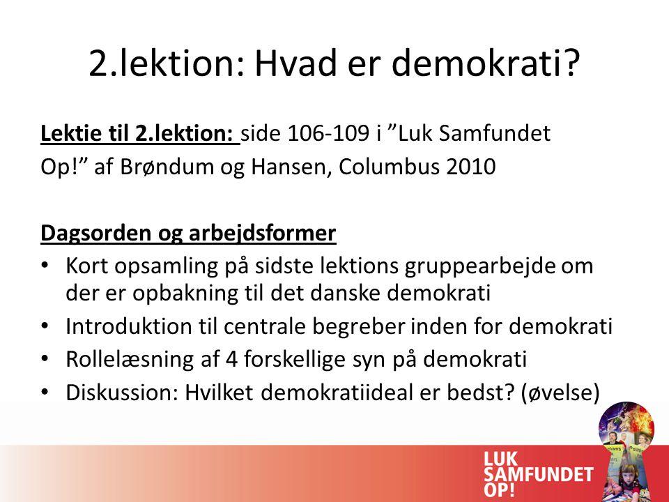 2.lektion: Hvad er demokrati