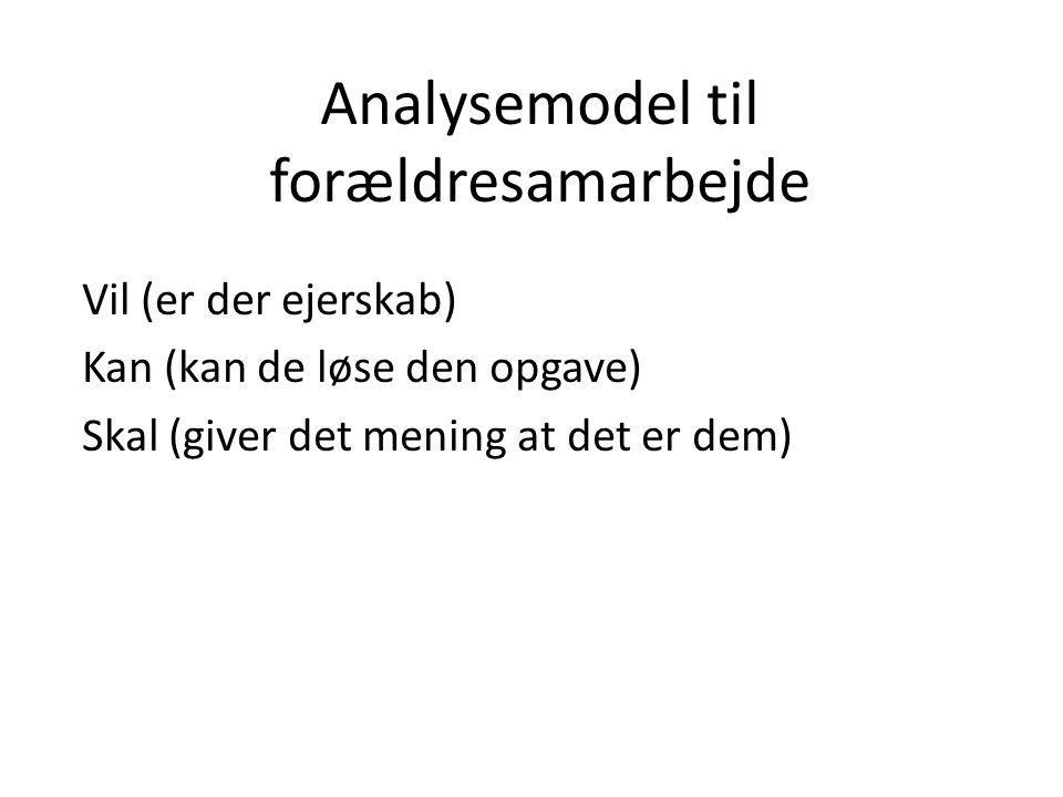 Analysemodel til forældresamarbejde