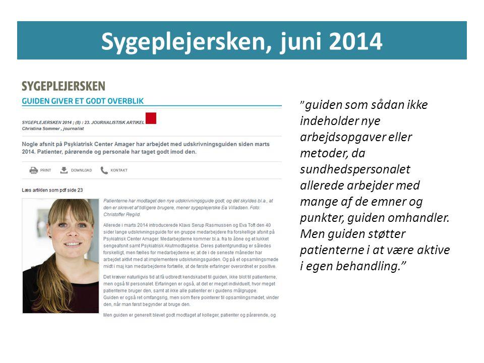Sygeplejersken, juni 2014