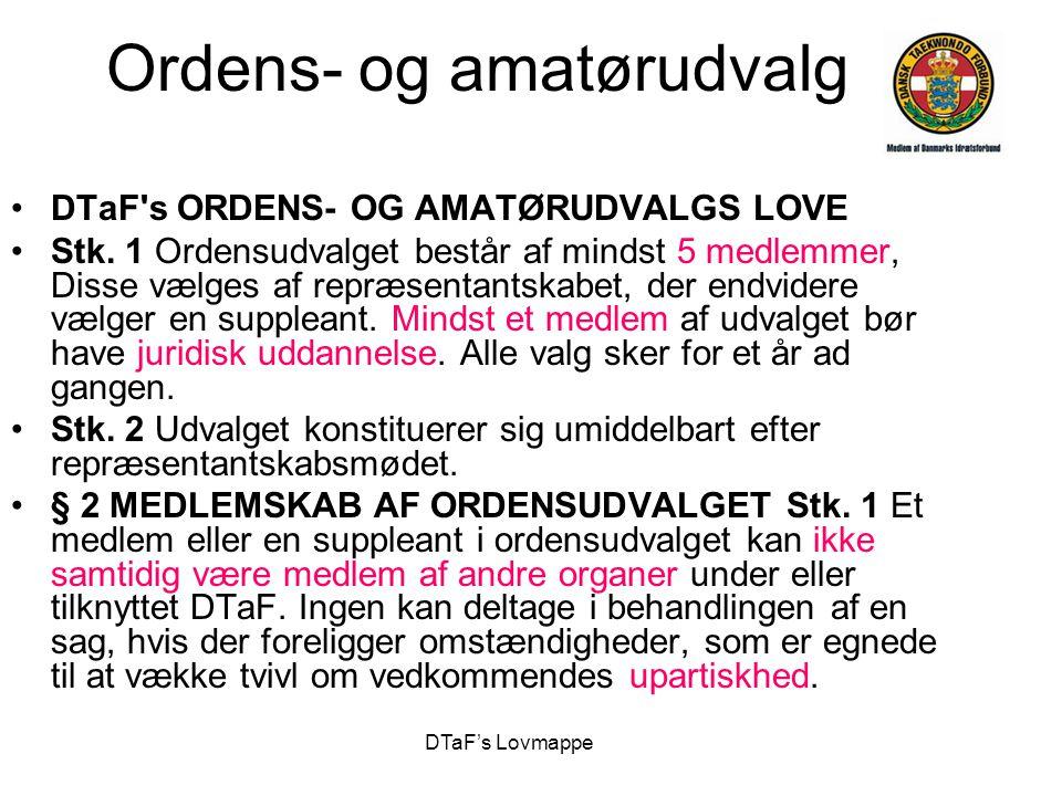 Ordens- og amatørudvalg