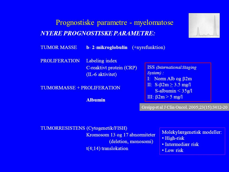 Prognostiske parametre - myelomatose