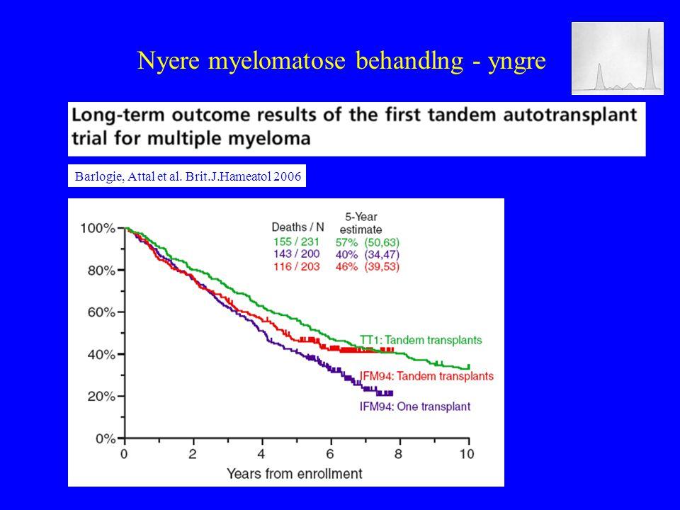 Nyere myelomatose behandlng - yngre