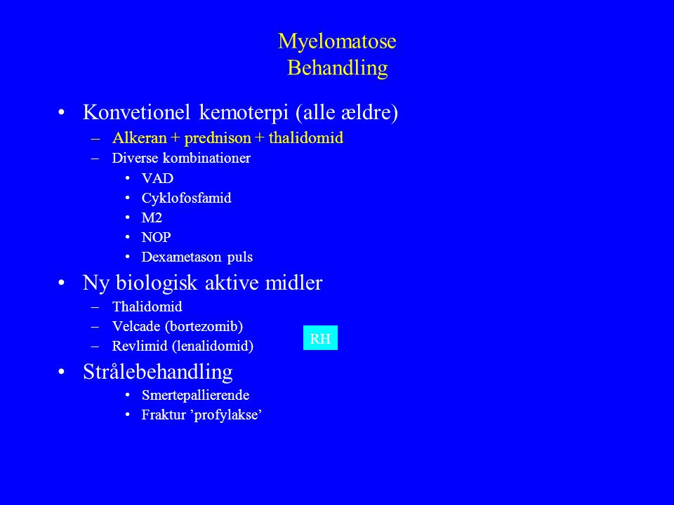 Myelomatose Behandling