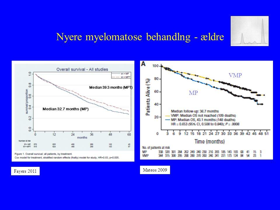 Nyere myelomatose behandlng - ældre