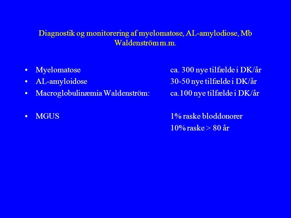 Diagnostik og monitorering af myelomatose, AL-amylodiose, Mb Waldenström m.m.