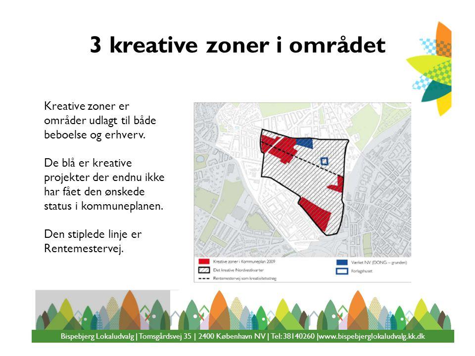 3 kreative zoner i området