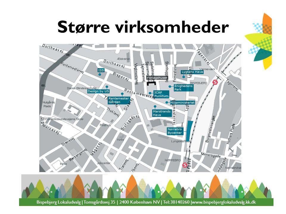 Større virksomheder Bispebjerg Lokaludvalg | Tomsgårdsvej 35 | 2400 København NV | Tel: 38140260 |www.bispebjerglokaludvalg.kk.dk.