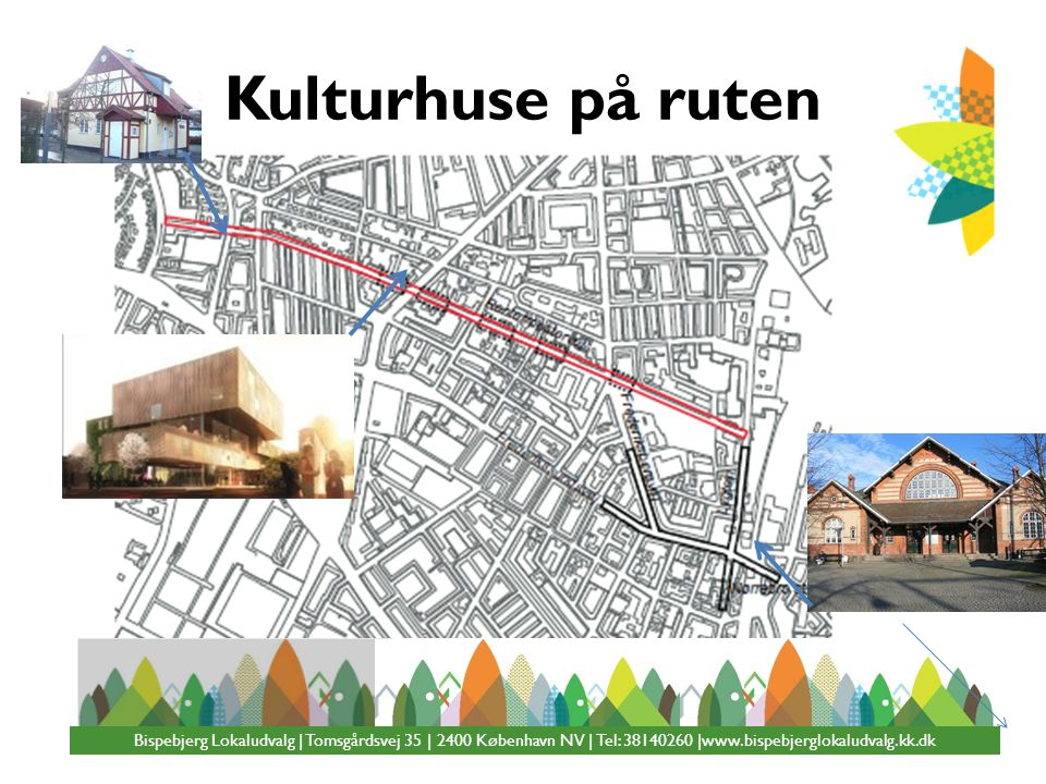 Kulturhuse på ruten Bispebjerg Lokaludvalg | Tomsgårdsvej 35 | 2400 København NV | Tel: 38140260 |www.bispebjerglokaludvalg.kk.dk.