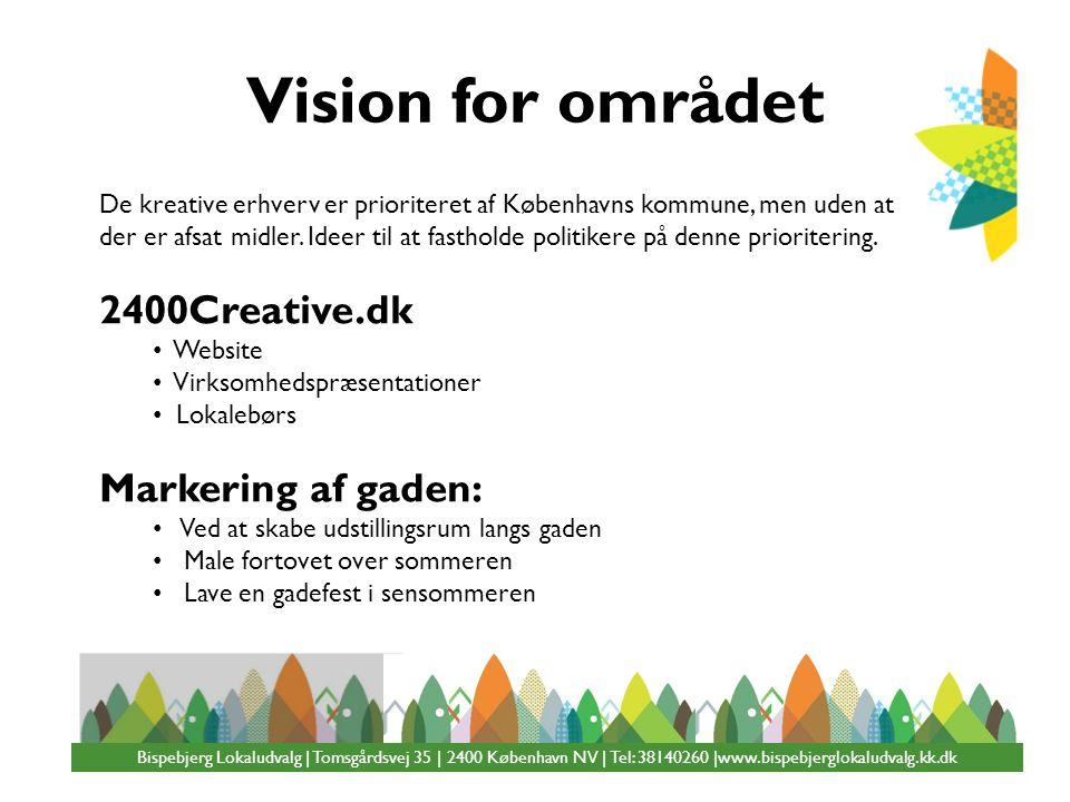 Vision for området 2400Creative.dk Markering af gaden: