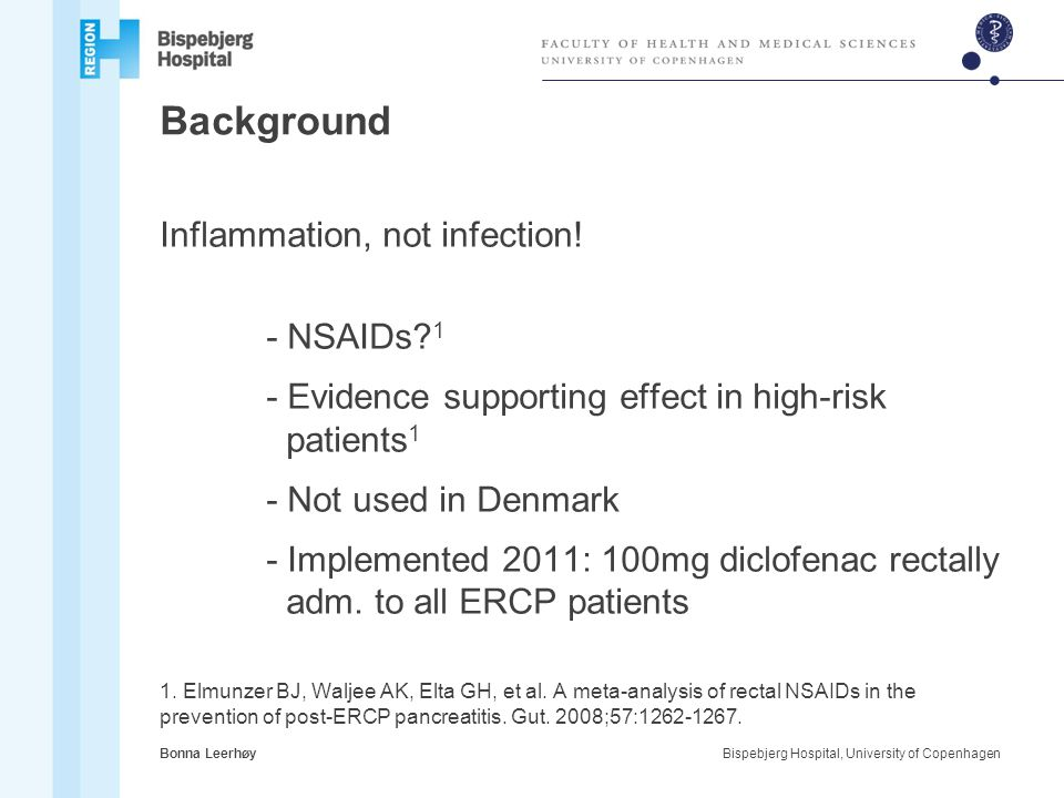 Background Inflammation, not infection! - NSAIDs 1