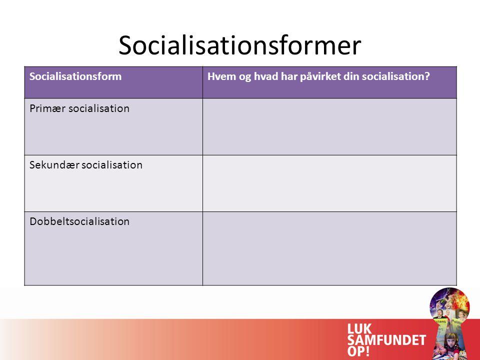 Socialisationsformer