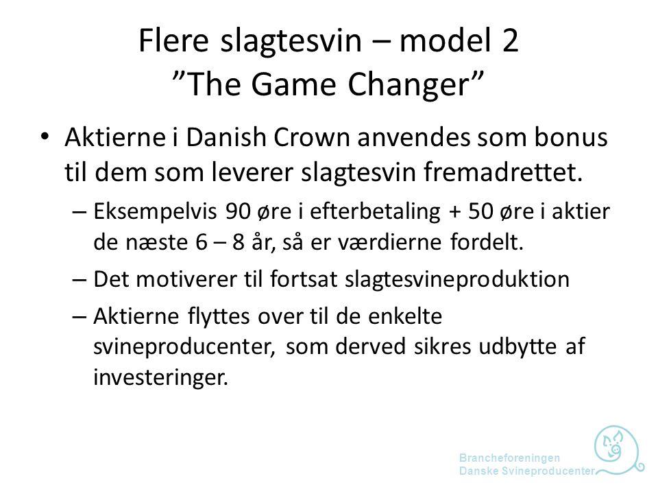 Flere slagtesvin – model 2 The Game Changer