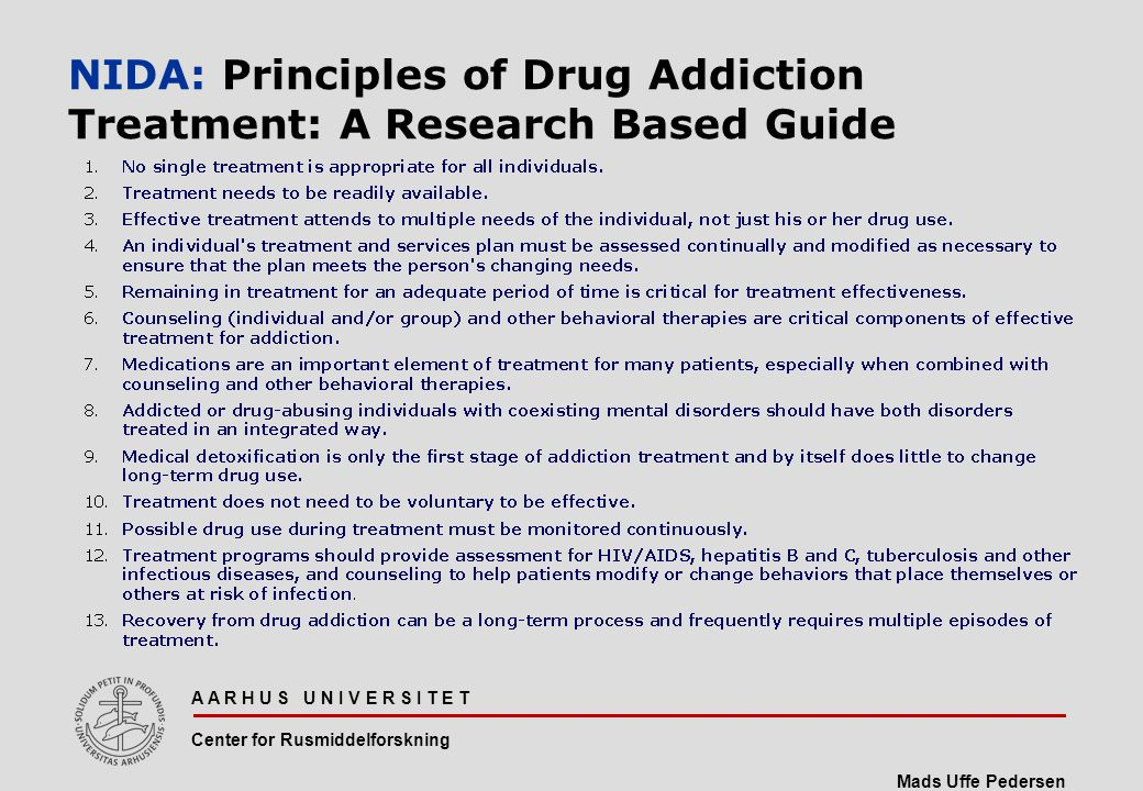 NIDA: Principles of Drug Addiction Treatment: A Research Based Guide