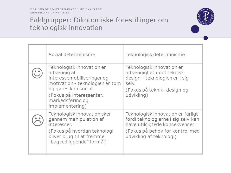 Faldgrupper: Dikotomiske forestillinger om teknologisk innovation