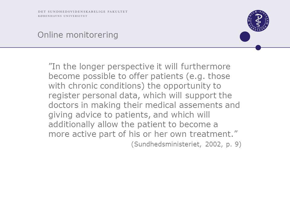 Online monitorering
