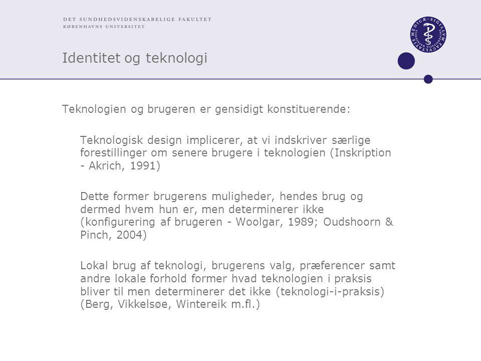 Identitet og teknologi