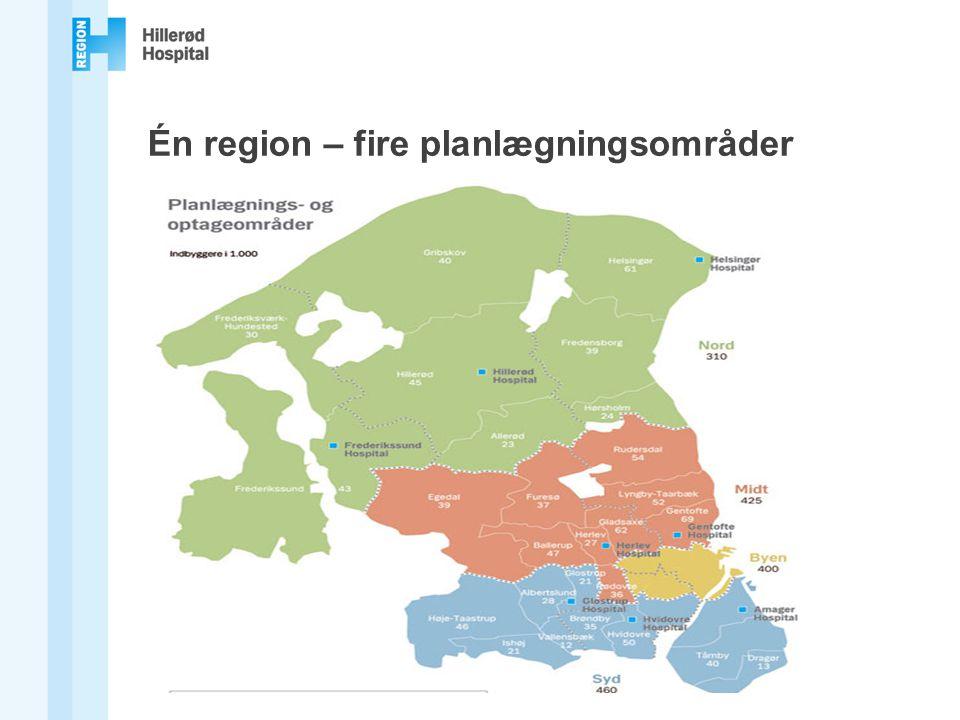 Én region – fire planlægningsområder