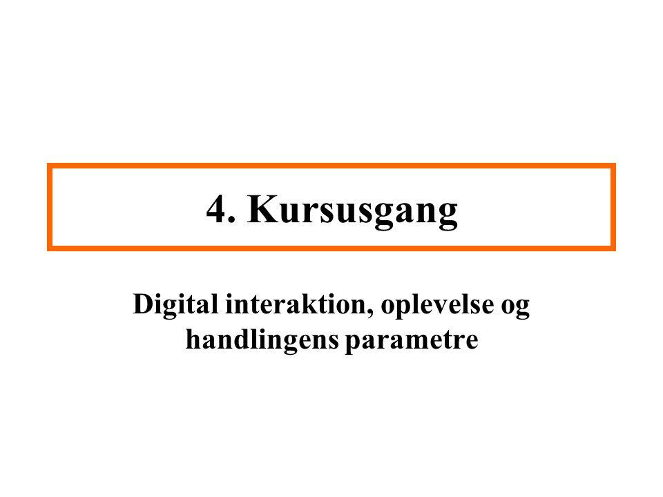 Digital interaktion, oplevelse og handlingens parametre