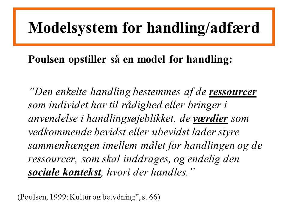 Modelsystem for handling/adfærd