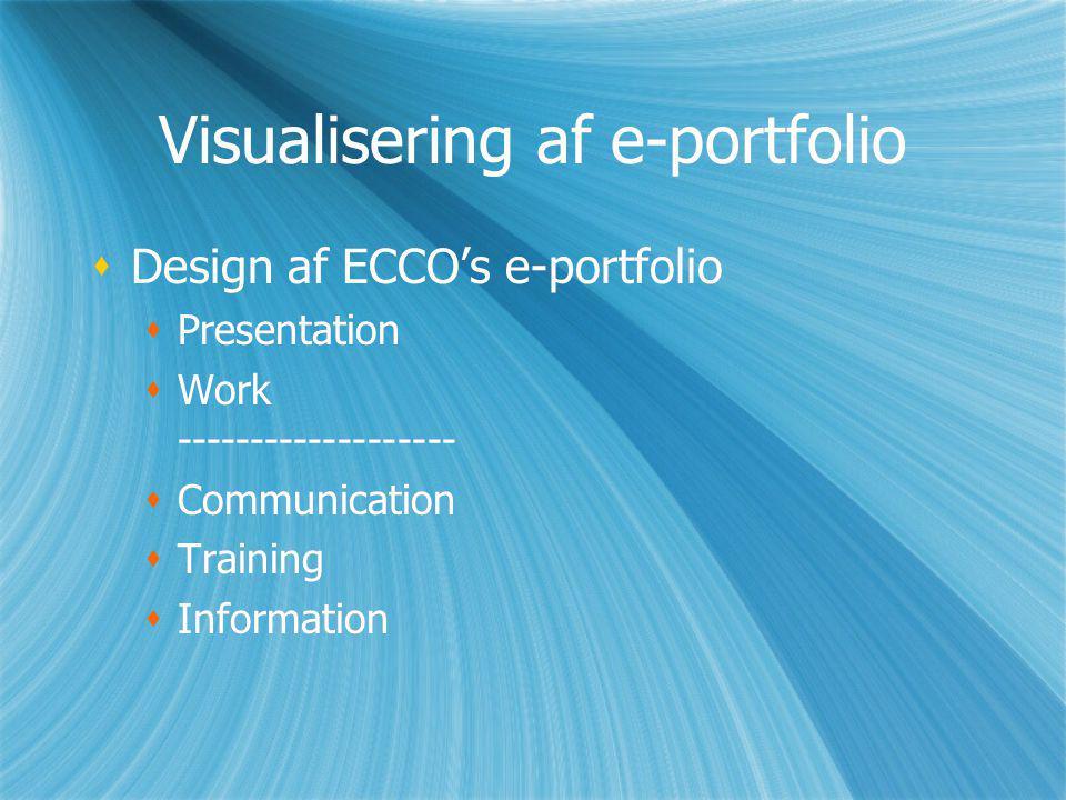 Visualisering af e-portfolio