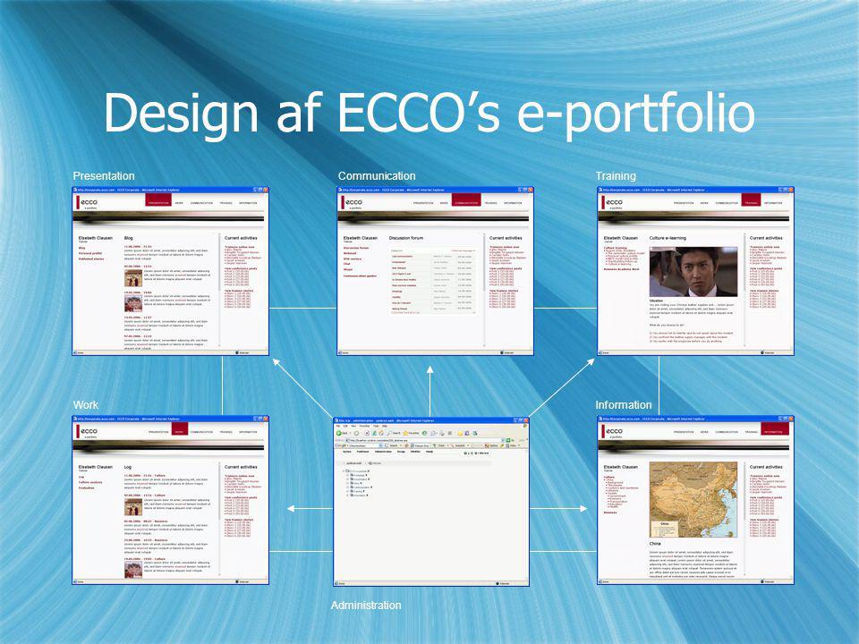 Design af ECCO's e-portfolio