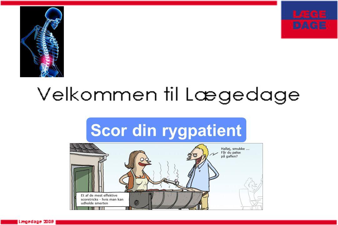 Scor din rygpatient