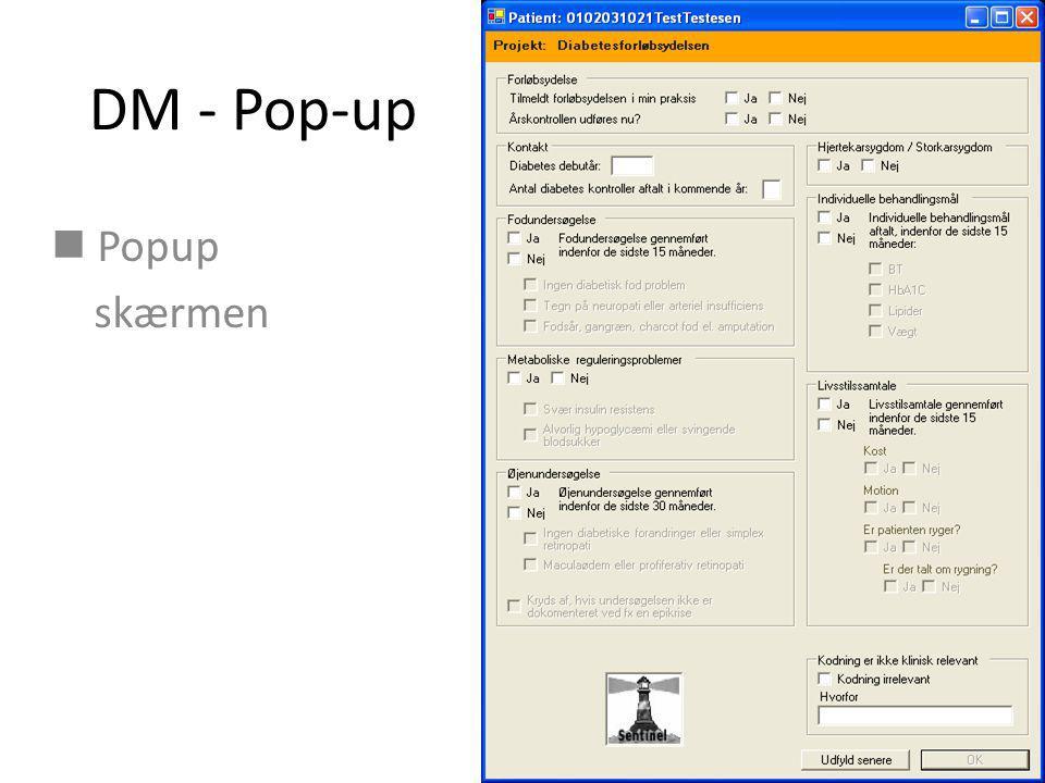 DM - Pop-up Popup skærmen