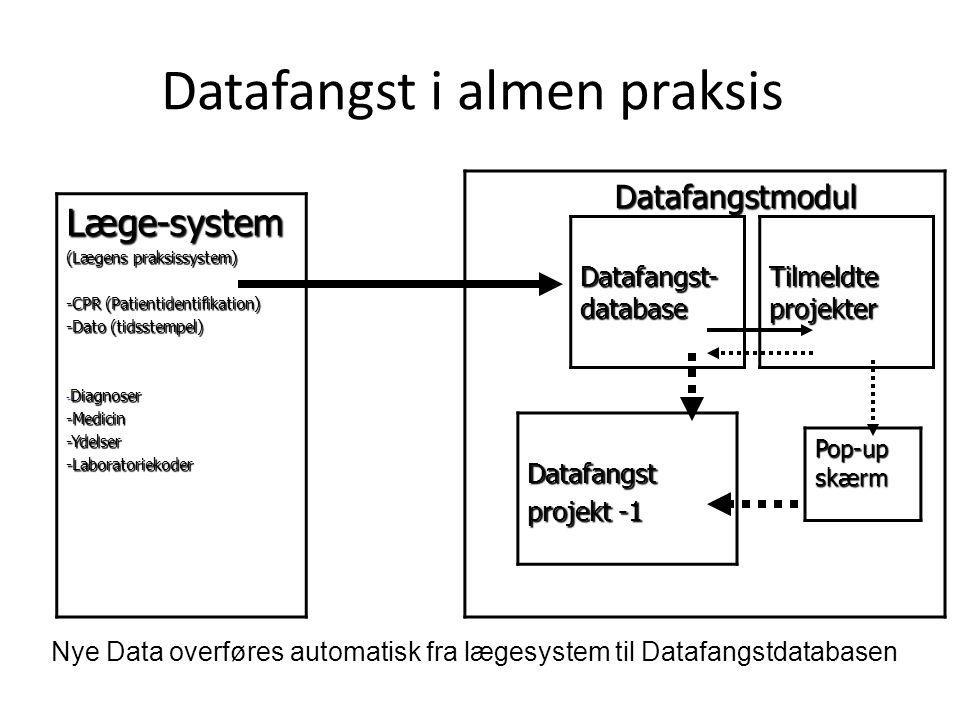 Datafangst i almen praksis