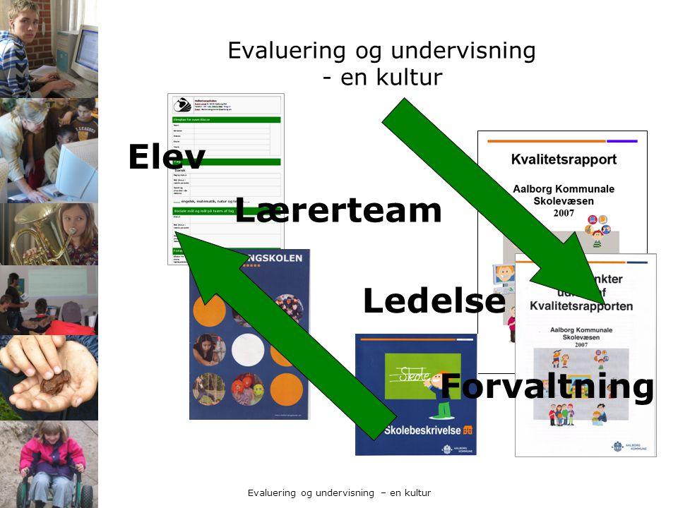 Evaluering og undervisning - en kultur