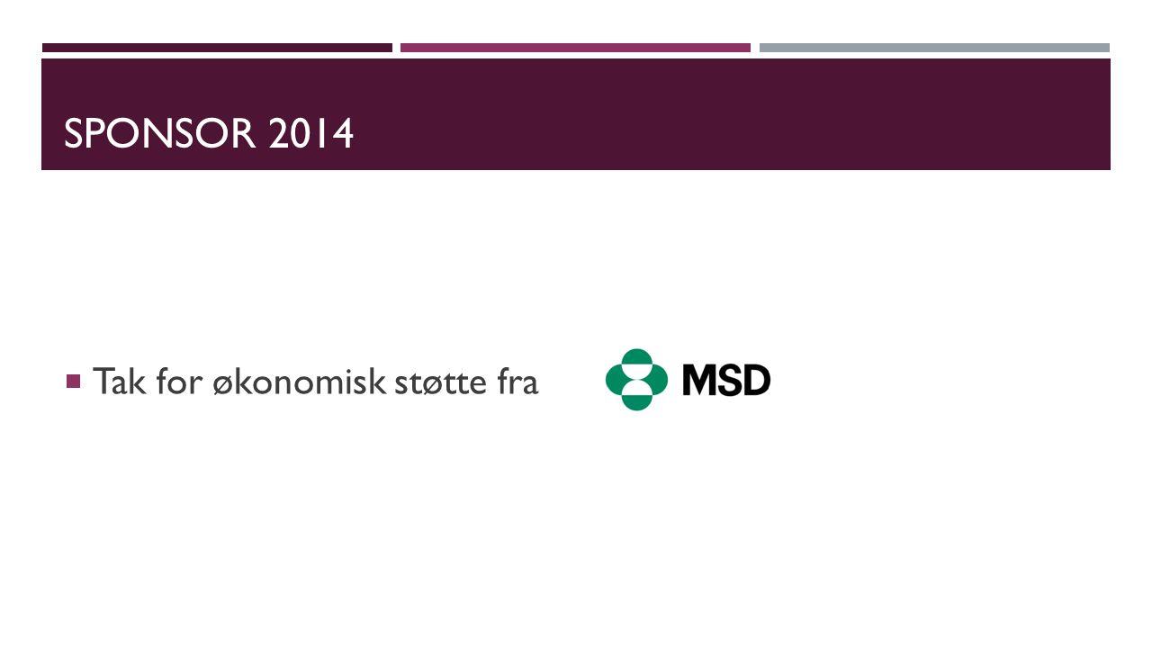 SPONSOR 2014 Tak for økonomisk støtte fra