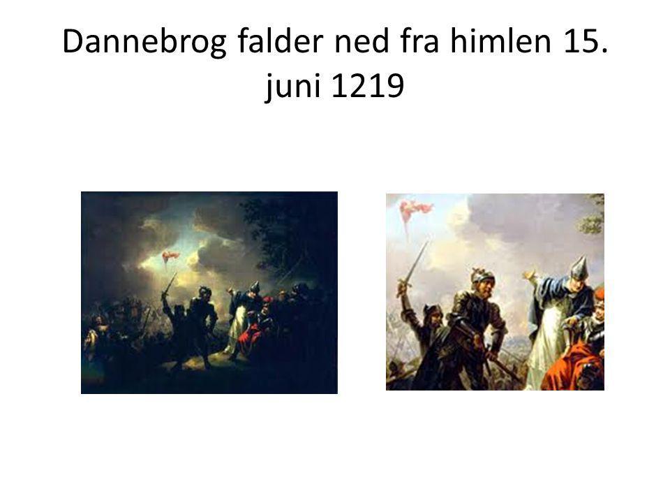 Dannebrog falder ned fra himlen 15. juni 1219
