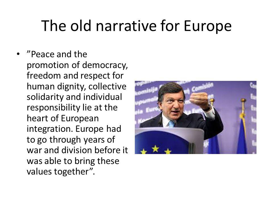 The old narrative for Europe