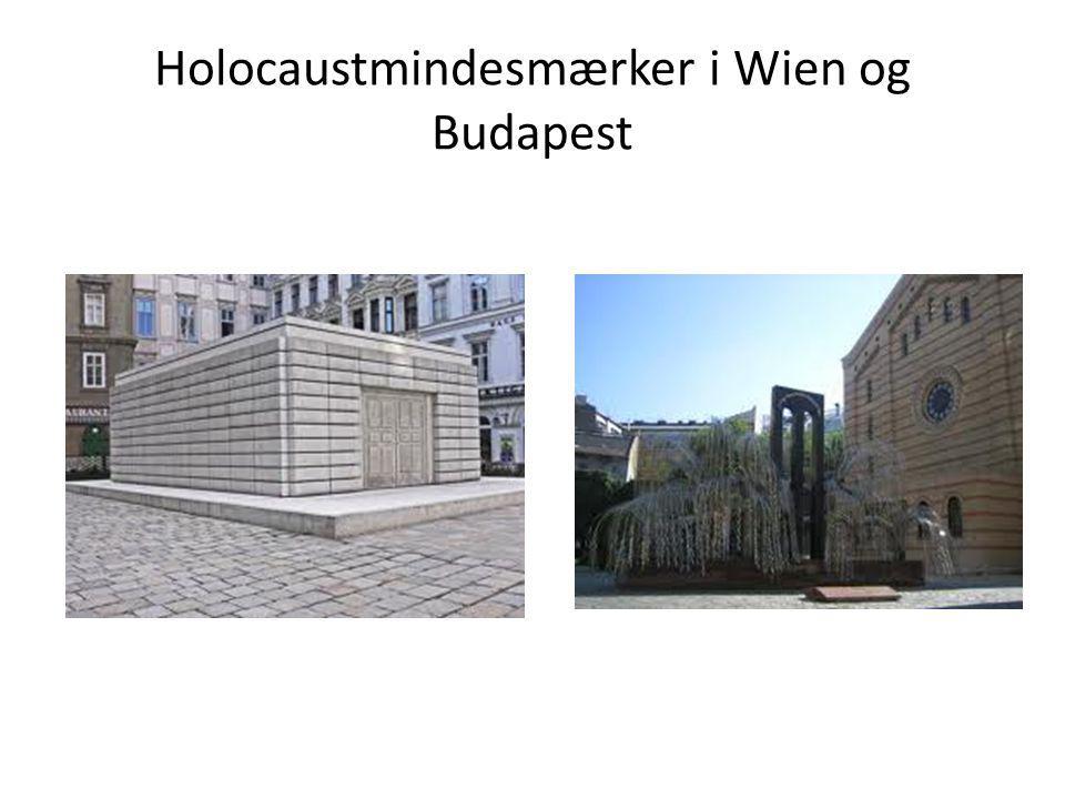 Holocaustmindesmærker i Wien og Budapest