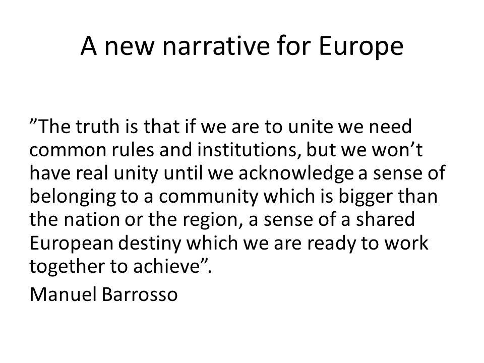 A new narrative for Europe