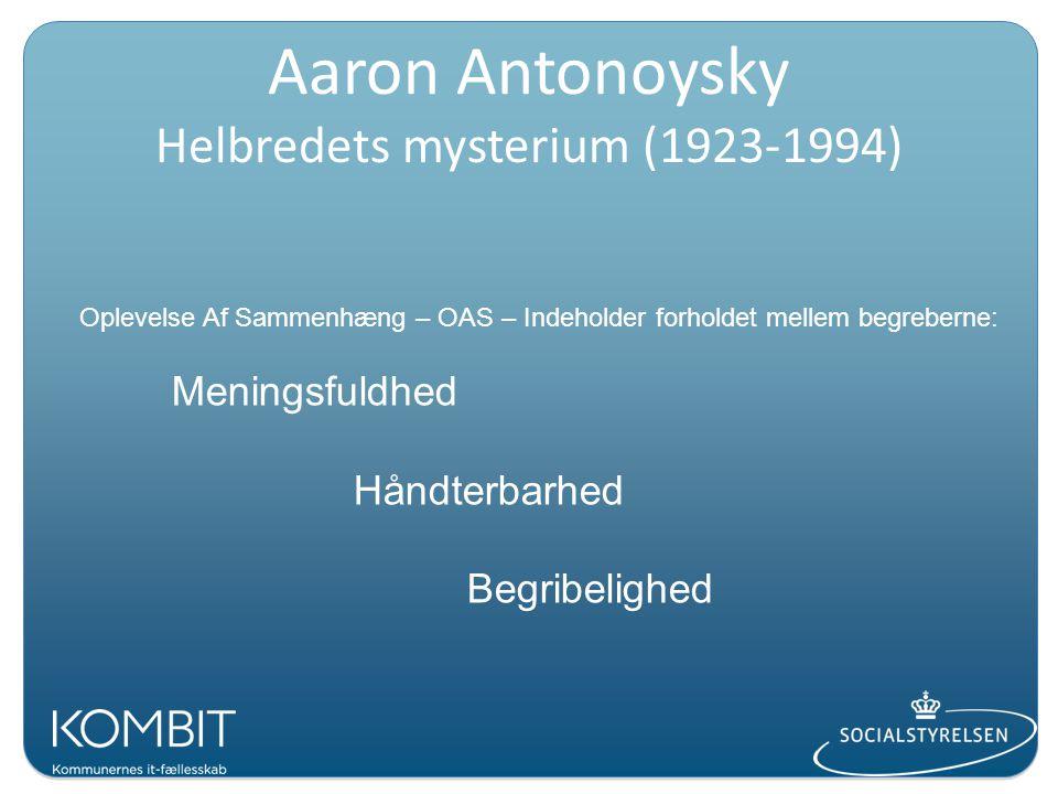 Aaron Antonoysky Helbredets mysterium (1923-1994)