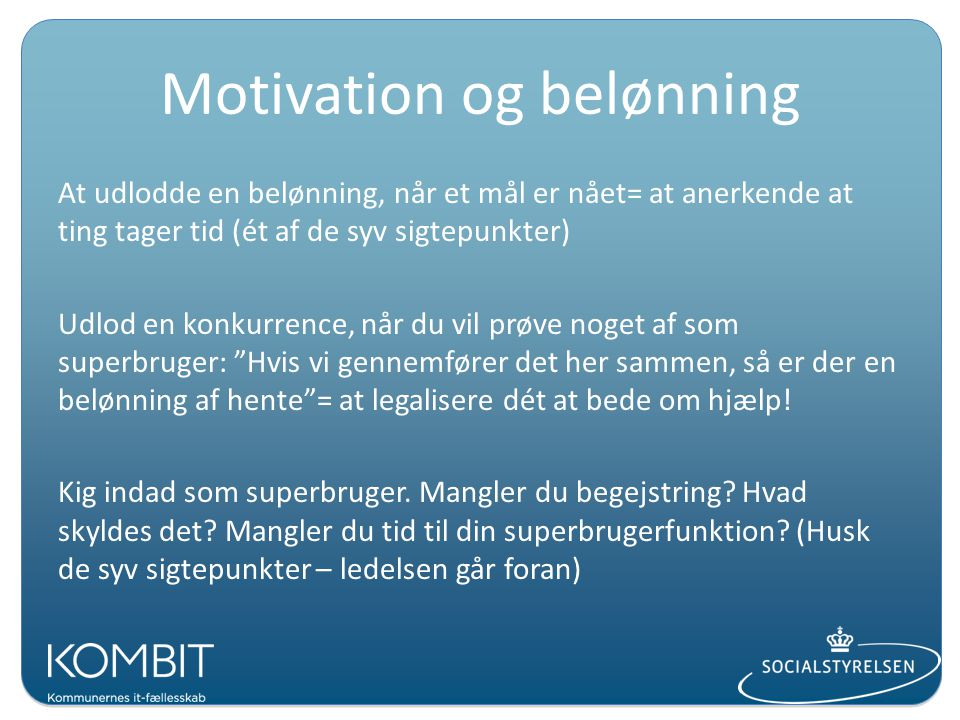 Motivation og belønning