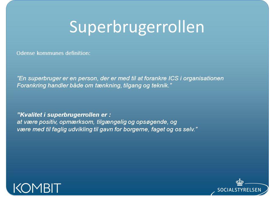 Superbrugerrollen Odense kommunes definition: