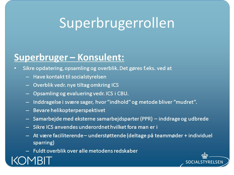 Superbrugerrollen Superbruger – Konsulent: