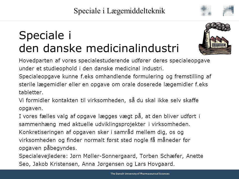 Speciale i den danske medicinalindustri