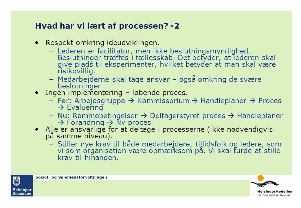 Hvad har vi lært af processen -2