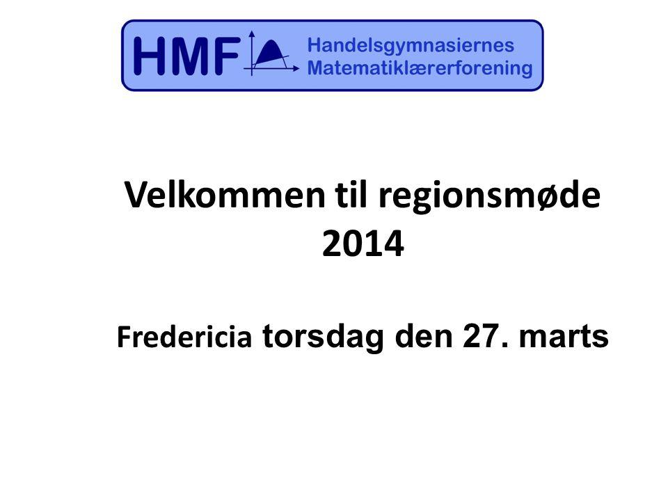Velkommen til regionsmøde Fredericia torsdag den 27. marts
